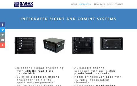 Screenshot of Products Page sagax.hu - Products - captured Nov. 17, 2016