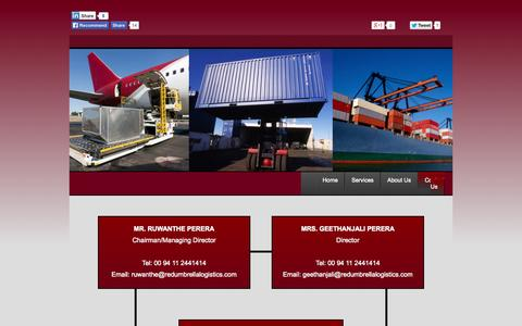 Screenshot of Contact Page redumbrellalogistics.com - Contact REDUmbrella Logistics & Trading - captured Oct. 6, 2014