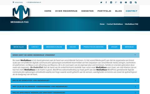 Screenshot of FAQ Page mediamaus.nl - MediaMaus FAQ - MediaMaus - captured June 10, 2017