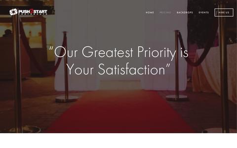 Screenshot of Pricing Page push2startphotobooth.com - PRICING — Push2Start Photo Booth - captured Sept. 30, 2018