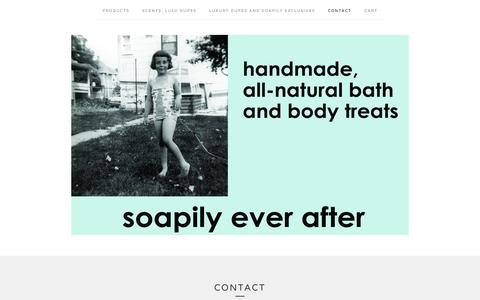 Screenshot of Contact Page soapilyeverafter.com - Contact / soapilyeverafter - captured Sept. 20, 2018