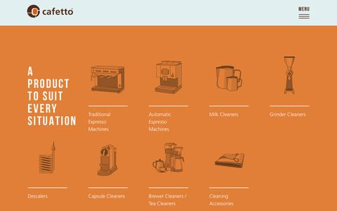 Screenshot of Products Page cafetto.com - Cafetto   Products - captured Nov. 4, 2018