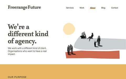 Screenshot of About Page freerangefuture.com - About Freerange   Web design, Digital, Brand Agency   Adelaide Melbourne - captured Nov. 5, 2019