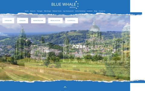 Screenshot of Locations Page bluewhalemedia.co.uk - Locations - Blue Whale Media - captured Jan. 28, 2016