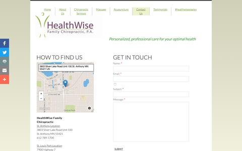 Screenshot of Privacy Page Contact Page myhealthwise.net - Contact Us - captured Sept. 27, 2018