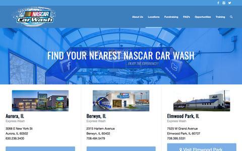 Screenshot of Locations Page nascarcarwash.com - NCW Locations - NASCAR Car Wash - captured June 11, 2017