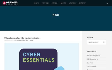 Screenshot of Press Page williamscommerce.com - News | Williams Commerce - captured Oct. 21, 2017