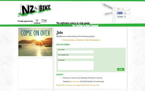 Screenshot of Jobs Page nzbybike.com - Jobs - captured Sept. 30, 2014
