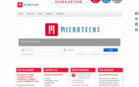 Screenshot of Login Page microtechs.co.uk - Welcome to Microtechs - captured Oct. 27, 2014