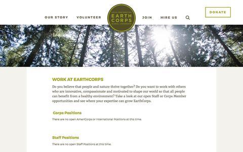 Screenshot of Jobs Page earthcorps.org - Jobs - EarthCorps - captured May 14, 2017