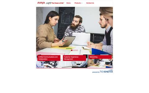 Screenshot of tiekinetix.com - Avaya The Power of We - captured Sept. 4, 2015