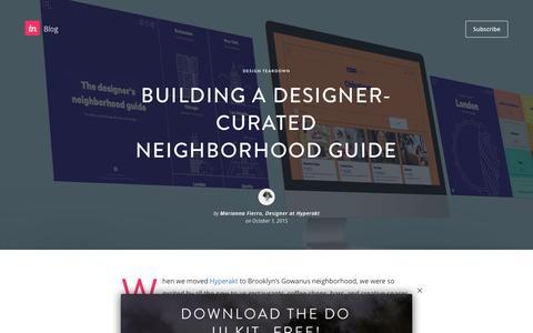 Screenshot of Blog invisionapp.com - Building a designer-curated neighborhood guide - InVision Blog - captured Dec. 14, 2016