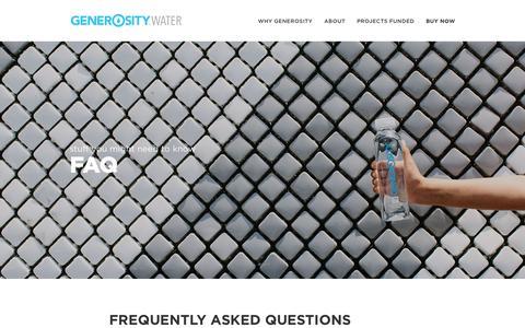 Screenshot of FAQ Page generositywater.com - Generosity WaterFAQs - Generosity Water - captured Dec. 8, 2015