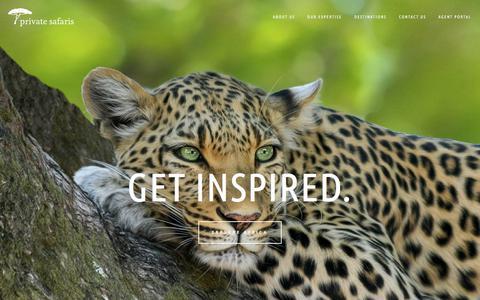 Screenshot of About Page privatesafaris.com - Private Safaris - captured Sept. 22, 2018