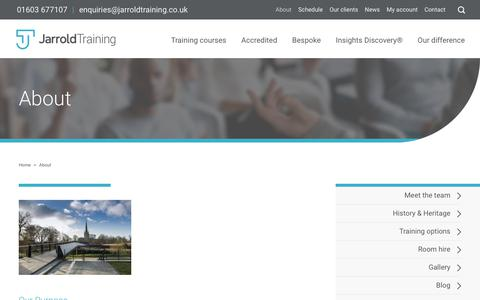 Screenshot of About Page jarroldtraining.co.uk - About Us | Jarrold Training - captured June 8, 2017