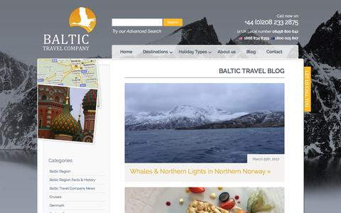 Screenshot of Blog baltictravelcompany.com - Baltic Travel Company - captured May 31, 2017