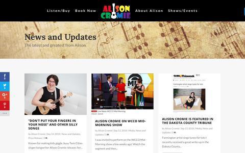 Screenshot of Blog alisoncromie.com - Blog - Alison Cromie - captured Oct. 18, 2018