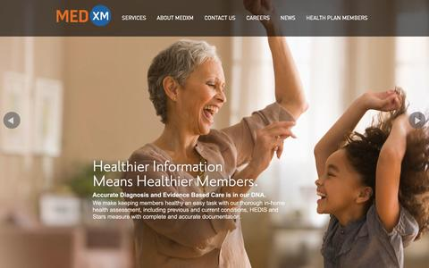 Screenshot of Home Page medxm1.com - MedXM - Your Partner in Health - captured Oct. 6, 2014