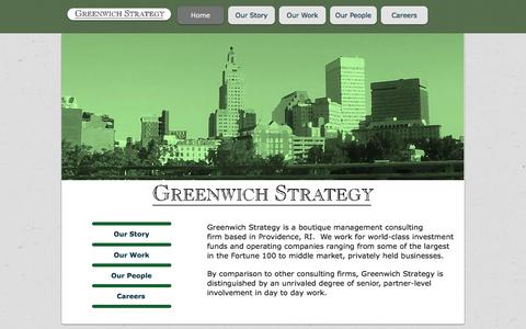 Screenshot of Home Page greenwichstrategy.com - Greenwich Strategy: Boutique Strategy Consulting Firm - captured July 25, 2018