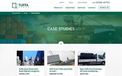 Screenshot of Case Studies Page tuffa.co.uk - Case Studies Archives | Tuffa Tanks - captured Oct. 18, 2018