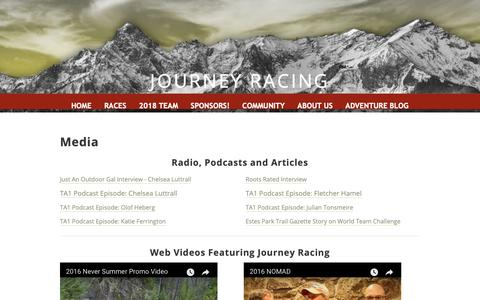 Screenshot of Press Page myjourneyracing.com - Media - Journey Racing - captured Oct. 14, 2018