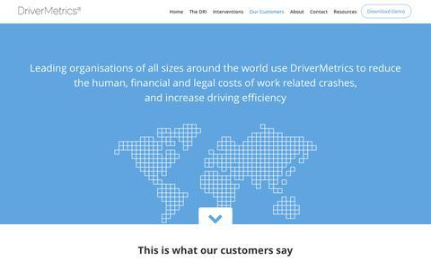 Screenshot of Testimonials Page drivermetrics.com - Testimonials – DriverMetrics - captured Nov. 24, 2016
