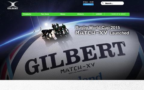 Screenshot of Home Page gilbertrugby.com - Gilbert Rugby - captured Oct. 2, 2014