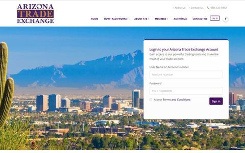 Screenshot of Login Page arizonatradeexchange.com - Arizona Trade Exchange - captured Dec. 9, 2018