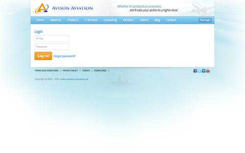 Screenshot of Login Page avisonaviation.com captured Oct. 4, 2014