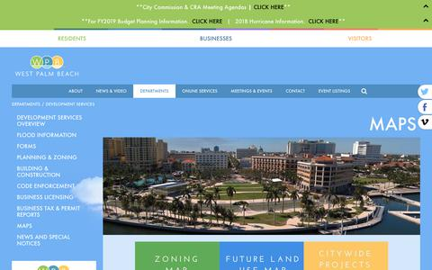 Screenshot of Maps & Directions Page wpb.org - WPB | City of West Palm Beach Development Services - captured Sept. 28, 2018