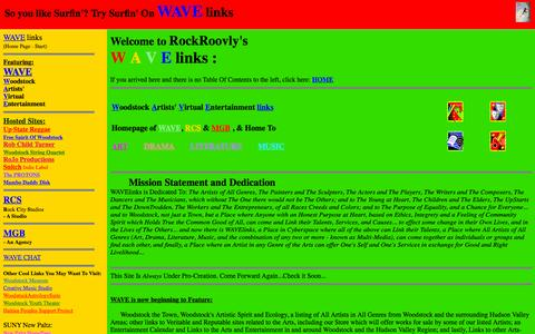 Screenshot of Home Page wavelinks.net - WAVElinks - captured Oct. 12, 2015