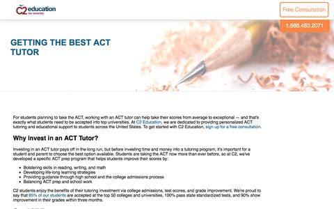 Screenshot of c2educate.com - Getting the Best ACT Tutor - captured July 11, 2017