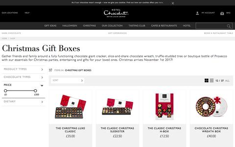 Chocolate Christmas Gift Boxes by Hotel Chocolat