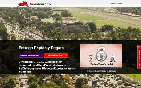 Screenshot of Home Page tumotorizado.com - Tumotorizado - captured Sept. 12, 2014