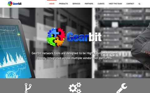 Screenshot of Home Page gearbit.com - Gearbit - Highly automated and deeply integrated network tools - Gearbit - captured Dec. 7, 2015