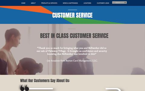 Screenshot of Testimonials Page bellwetherenterprise.com - Commercial Mortgage Loan Reviews | Bellwether Enterprise - captured Oct. 10, 2017