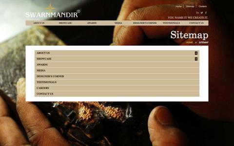 Screenshot of Site Map Page swarnmandir.com - Swarnmandir - captured Nov. 18, 2016