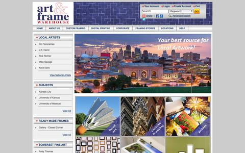 Screenshot of Home Page Locations Page afwkc.com - ART & FRAME  Warehouse Gallery Quality at Warehouse Prices! - captured Oct. 4, 2014