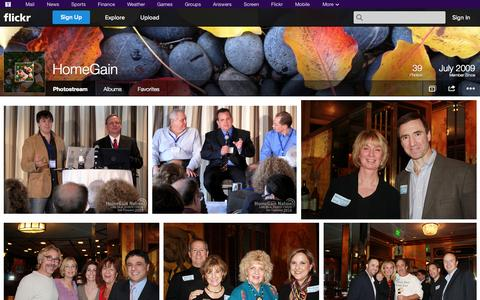 Screenshot of Flickr Page flickr.com - Flickr: HomeGain's Photostream - captured Oct. 22, 2014