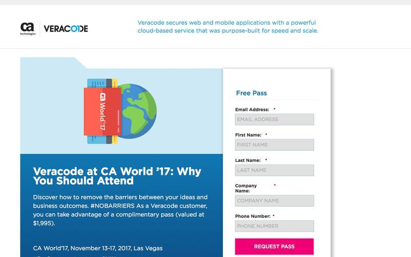 Veracode at CA World '17   Veracode