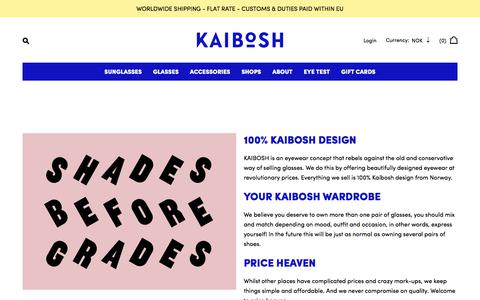 Screenshot of About Page kaibosh.com - About – Kaibosh - captured Sept. 20, 2018