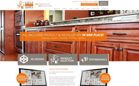 Screenshot of Home Page savvyhomesupply.com - Kitchen & Bathroom Remodeling in Louisville, KY| Savvy Home Supply - captured Dec. 22, 2015