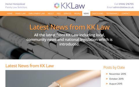 Screenshot of Press Page kklaw.co.uk - Latest News - Solicitors in Hemel Hempstead, Lawyers in Hemel Hempstead | KK Law - captured Nov. 27, 2016