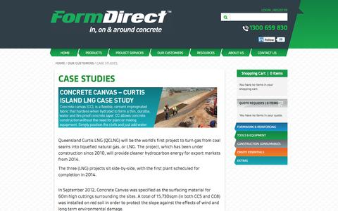 Screenshot of Case Studies Page formdirect.com.au - Case Studies - Our Customers - captured Sept. 30, 2014