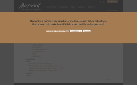Screenshot of Site Map Page maxwellfabrics.com - Sitemap | Maxwell Fabrics - captured Oct. 27, 2014