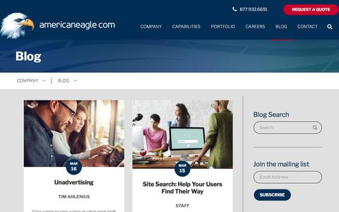 Screenshot of Blog americaneagle.com - Web Design and Development Blog | Americaneagle.com - captured March 17, 2018
