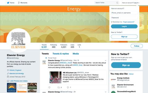 Elsevier Energy (@ElsevierEnergy) | Twitter