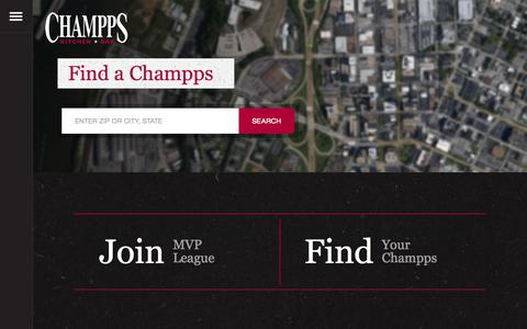 Screenshot of Locations Page champps.com - Champps  Find a Champps - captured July 3, 2015