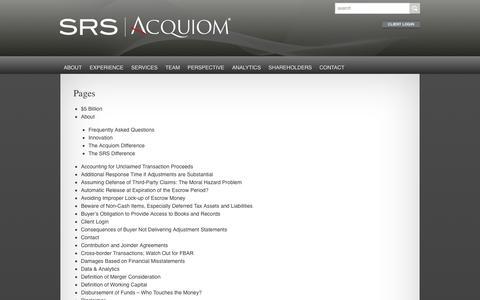 Screenshot of Site Map Page srsacquiom.com - Sitemap - SRS|Acquiom - captured Sept. 30, 2014