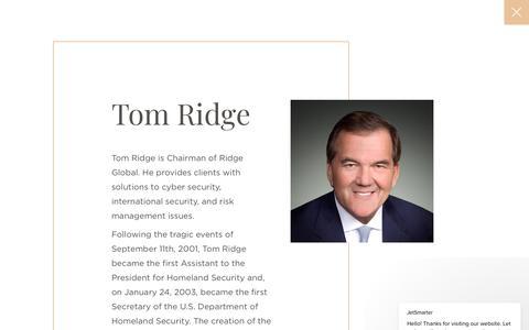 Tom Ridge   JetSmarter